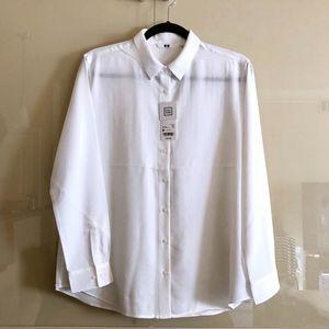 UNIQLO easy care rayon shirt/blouse, sz M